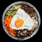 Bibimbap in stone bowl
