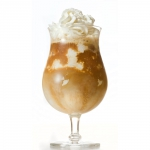 Iced coffee with vanilla ice cream